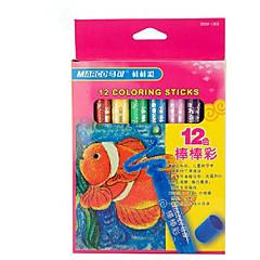 Marco 12 Color Bars Bright Crude Oil Pastel Non-Toxic Washable Rotatable