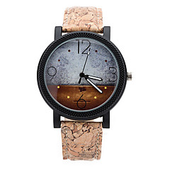 Men's Star Starry Case Brown Leather Band Fashion Watch