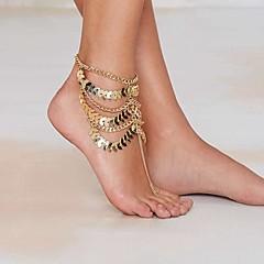 Kadın's Ayak bileziği/Bilezikler Altın Kaplama alaşım Eşsiz Tasarım Avrupa Moda İfade Takıları Çoklu Katman Eski Tip Sexy kostüm takısı