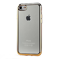 Capa traseira Transparentes Cor Única TPU Macio Case Capa Para Apple iPhone 6s Plus/6 Plus / iPhone 6s/6 / iPhone SE/5s/5 / iPhone 7