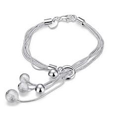 Dame Kæde & Lænkearmbånd Charm-armbånd Wrap Armbånd På tværs Mode Punk Stil Yndig Personaliseret kostume smykker Sølv Smykker Slange