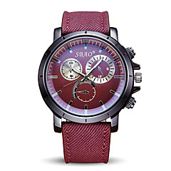 Hombre Reloj Deportivo Reloj de Moda Reloj de Pulsera Cuarzo / Tejido Banda Cool Casual Rojo Marca