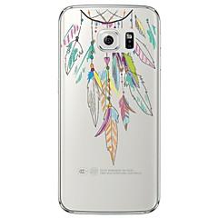 إلى Samsung Galaxy S7 Edge شفاف / نموذج غطاء غطاء خلفي غطاء ريش ناعم TPU Samsung S7 edge / S7 / S6 edge plus / S6 edge / S6 / S5 / S4
