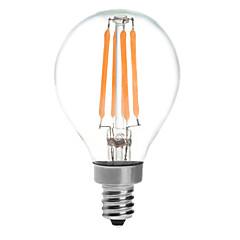 KWB 4W  E14 LED Globe Bulbs G45 4 COB 380 lm Warm White Waterproof AC 220-240 V 1 pcs