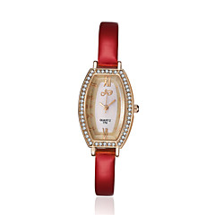 Women's Dress Watch Fashion Watch Quartz / Leather Band Vintage Casual Black White Red Pink