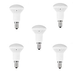 5pcs r50 7w e14 führte Globus vor Ort Glühbirne warme / kühle weiße Lampe (ac85-265v)