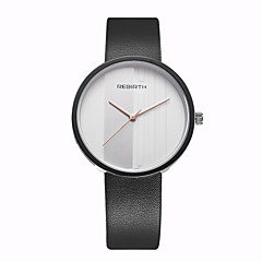 REBIRTH Unisex Women's/Men's Watch Simple Fashion Dial PU Leather Strap Quartz Wrist Watch
