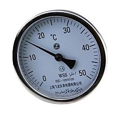 præcision rustfrit stål termometre enkelt aksial bimetallic termometer (WSS-401)
