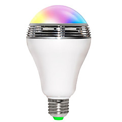 5W E26/E27 Smart LED-lampe B 10 SMD 5730 400 lm RGB Lydaktiveret / Bluetooth / WIFI AC 85-265 V 1 stk.