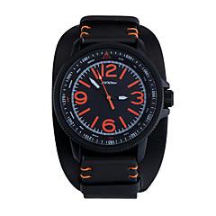 SINOBI® Male Wrist Watch Men Sports Watches Black Leather Boy Casual Reloj Minitary Ourdoor Quartz Wristwatches Unisex Cool Watch Unique Watch