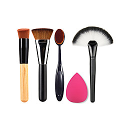 4.0 Brush Sets / Blushkwast / Concealerkwast / Waaierkwast / Poederkwast / Foundationkwast / Contour Brush NylonkwastProfessioneel /