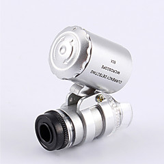 Mindste guldsmedens Microscope 60X 2 LED mini lomme Microscope Magnifier juveleren Loupe