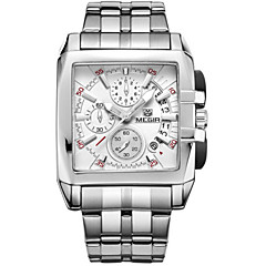 Masculino Relógio Esportivo / Relógio Elegante / Relógio de Pulso Quartz Calendário / Cronógrafo / / Cerâmica Banda Casual Prata marca