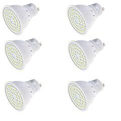 3 GU10 LED Spot Lampen MR16 48 SMD 2835 250 lm Warmes Weiß / Kühles Weiß Dekorativ AC 220-240 V 6 Stück