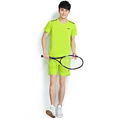 Herre Kort Ærme Løb Tøjsæt/Jakkesæt Åndbart Forår Sommer Efterår Sportstøj Træning & Fitness Fritidssport Badminton Cykling/Cykel Løb