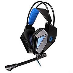 Sades SA-709 Høretelefoner (Pandebånd)ForMedie Player/Tablet / ComputerWithMed Mikrofon / DJ / Lydstyrke Kontrol / FM Radio / Gaming /