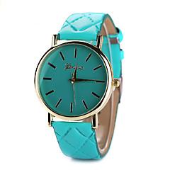 Dames Modieus horloge Kwarts Vrijetijdshorloge Leer Band Zwart / Wit / Blauw / Rood / Bruin / Roze Merk-