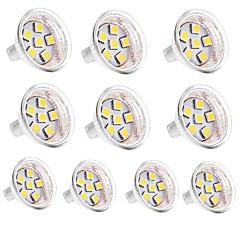 10szt. Mr11 6smd 5050 1w 100lm ciepłe białe / chłodne białe bi-pinowe światło dc12v