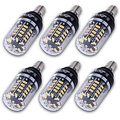 3 E14 / E12 / E26/E27 LED-kolbepærer T 40 SMD 5736 300 lm Varm hvid / Kold hvid Dekorativ AC 85-265 V 6 stk.