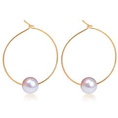 Kolczyki koła Modny Perłowy Stop Circle Shape Geometric Shape Gold Silver Biżuteria Na Ślub Codzienny Casual 1 para