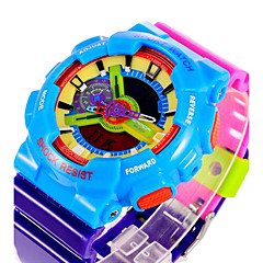 SANDA® Unisex Candy Color Fashion Sport Analog Digital Double Time Waterproof Quartz Watch Fashion Wrist Watch Cool Watch