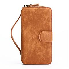 iphone 7 συν 2in1 γνήσιο δέρμα φερμουάρ υποδοχή για κάρτα πορτοφόλι πίσω κέλυφος περίπτωση για το iphone 6s 6 συν se 5s 5