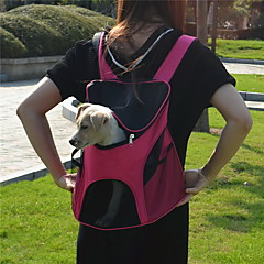 Kedi Köpek Taşıyıcı & Seyahat Sırt Çantaları Evcil Hayvanlar Taşıyıcı Taşınabilir Nefes Alabilir Solid Sarı Gül Yeşil Açık Mavi Gökküşağı