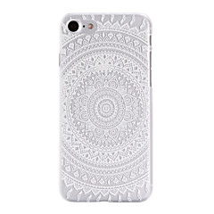 Round Printing Pattern  Transparent PC Material Phone Case for  iPhone 7 7 Plus 6s 6 Plus SE 5s 5