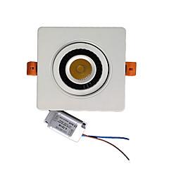 ZDM 7w cob dimmen enkele draaien 360 graden geleid ingebed plafondlamp (AC90-260V)