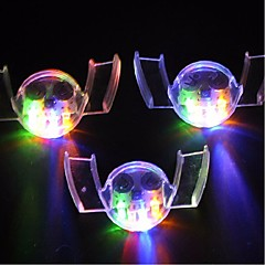 3PCS Colorful Flashing LED Flash Light Mouth Guard Piece 4 Colors Party Glowing Tooth Toy Festive Party Supplies
