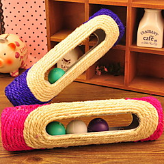 Cat Toy Pet Toys Interactive Rolling Scratching Scratch Tool Sisal Random Color