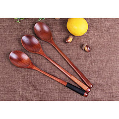 Long-Handled Wooden Spoon Old Wooden Spoon Juice Lacquer Trumpet Coffee Spoon Spoon Baby Spoon Japanese Wind