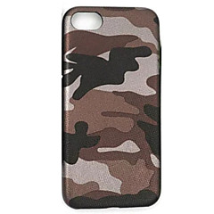 For Ultratyndt Etui Bagcover Etui Camouflage Blødt Kunstlæder for AppleiPhone 7 Plus iPhone 7 iPhone 6s Plus/6 Plus iPhone 6s/6 iPhone