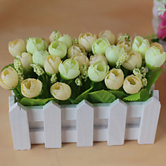 Set of 1 PCS 1 haara Polyesteri Ruusut Pöytäkukka Keinotekoinen Flowers 2.7