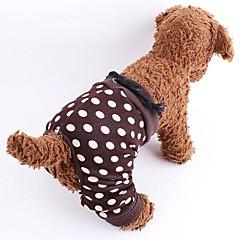 Perros Pantalones Marrón / Negro-Blanco Ropa para Perro Verano / Primavera/Otoño Lunares Moda