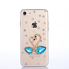 For iPhone 7 etui iPhone 7 Plus etui iPhone 6 etui Etuier Rhinsten Bagcover Etui Dyr Hårdt PC for AppleiPhone 7 Plus iPhone 7 iPhone 6s
