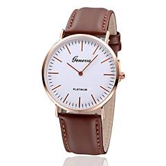 Mulheres Relógio de Moda Quartzo Couro Banda Vintage Preta Marrom Preto Marron