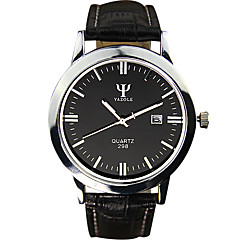 YAZOLE® Men's Quartz Casual Watch Simple Calendar Business Classic Round Alloy Dial Watch Cool Watch Unique Watch