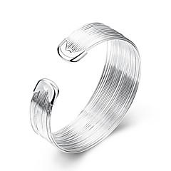 Damskie Bransoletki cuff Modny Wyrazista biżuteria minimalistyczny styl Europejski biżuteria kostiumowa Srebro standardowe Posrebrzany