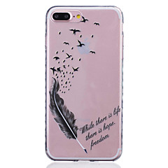 Til iPhone 8 iPhone 8 Plus iPhone 7 iPhone 7 Plus iPhone 6 Etuier Mønster Bagcover Etui Fjer Blødt TPU for Apple iPhone 8 Plus iPhone 8