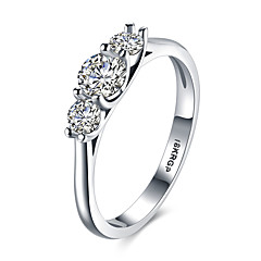 lureme 18kRPG Simple Cubic Zirconia Engagement Wedding Ring