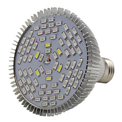 E27 78LED 42Red18Blue6White6IR6UV Full Spectrum Led Grow Light Bulb(AC85-265V)