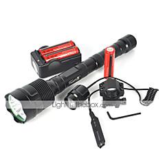 조명 LED손전등 LED 6000 루멘 1 모드 Cree XM-L T6 18650 캠핑/등산/동굴탐험 사이클링 여행 멀티기능 등산 메탈
