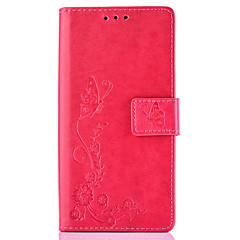 Flower Embossed PU Leather Wallet for Iphone 5 5s 5se 6 6Plus 6s 6sPlus 7
