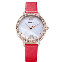 KEZZI Damen Modeuhr Armbanduhr Quartz / Leder Band Cool Bequem Schwarz Weiß Blau Rot Rose Weiß Schwarz Rose Rot Blau