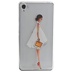 Voor Sony hoesje / Xperia XA Patroon hoesje Achterkantje hoesje Sexy dame Zacht TPU voor Sony Sony Xperia XA / Sony Xperia E5