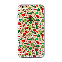 For iPhone 7 etui iPhone 7 Plus etui iPhone 6 etui Gennemsigtig Mønster Etui Bagcover Etui Jul Blødt TPU for AppleiPhone 7 Plus iPhone 7