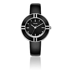 Women's Fashion Imitation Diamond Wrist watch Quartz Water Resistant/Water Proof Leather Band Sparkle White Brand