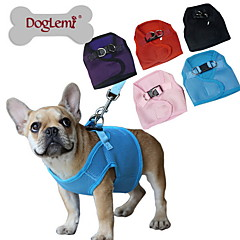 honden harnassen Verstelbaar/Uitschuifbaar / Ademend Effen Rood / Zwart / Blauw / Roze / Paars Netstof