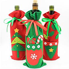 joulukoristeet uusi pullo sarja samppanja viini lahja pusseihin karkkia pussi joulu tuotteiden väri satunnainen